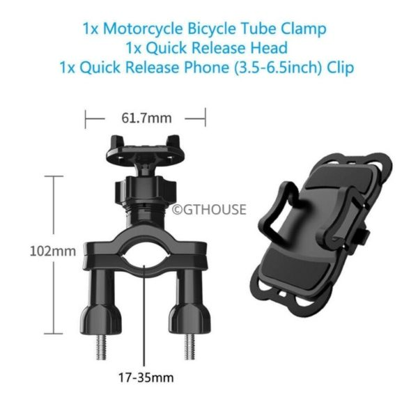 Handlebar Mount With Quickrelease Adapter + Phone Mount (2)